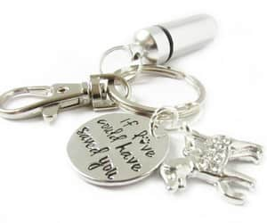etsy, dog lover gift, and pet loss keychain image