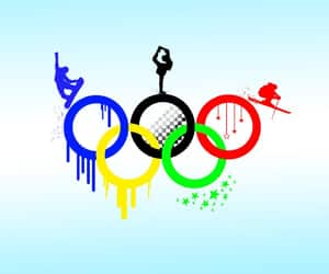 colors, sports, and olympics image