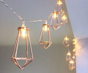bedroom decor, fairy lights, and lights image