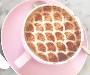 coffee, mermaid, and pink image
