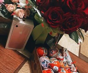 chocolates, red, and romance image
