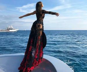 sea, dress, and ocean image
