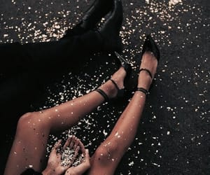 couple, glitter, and shoes image
