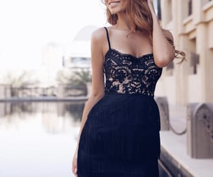 beauty, black dress, and classy image