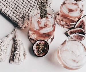 drink, rose gold, and food image