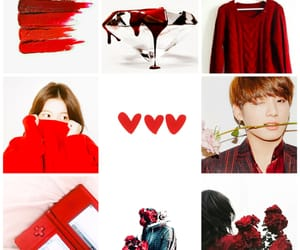 kpop, moodboard, and red image