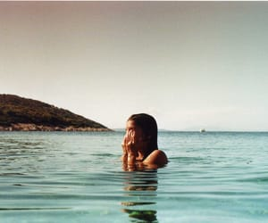 girl, summer, and sea image