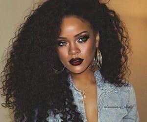 makeup, rihanna, and hair image
