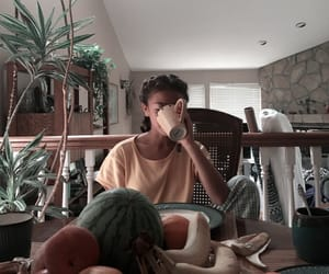 breakfast, cup, and girl image