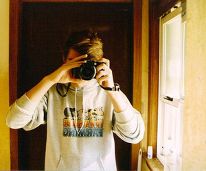 camera, gey, and guy image