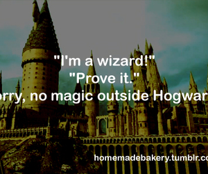 hogwarts, harry potter, and wizard image
