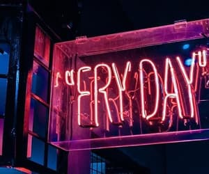 friday, light, and neon image