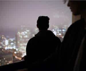 city, boy, and light image