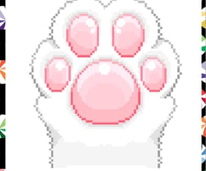 cat, kawaii, and pink image