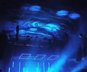 aesthetic, blue, and concert image