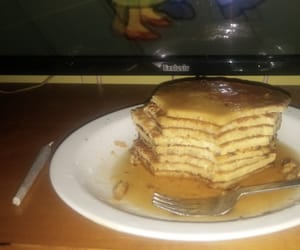 eat, pancakes, and simpson image