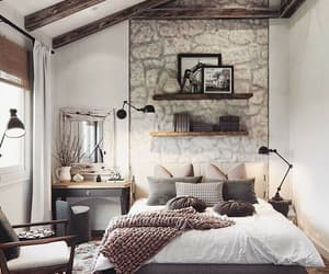 home, bedroom, and decorations image