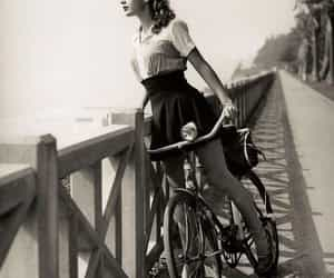 vintage, bike, and black and white image