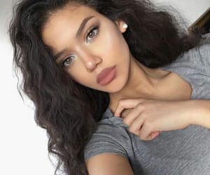 beauty, earrings, and lips image
