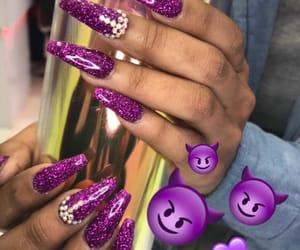 coffin, glitter, and purple glitter image