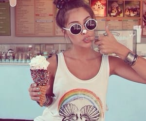 girl, summer, and ice cream image