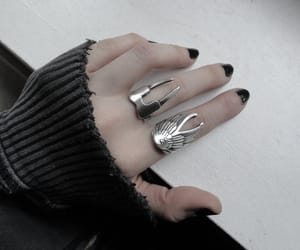 grunge, black, and rings image
