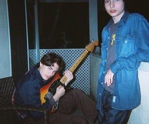 stranger things, guitar, and strangerthings image