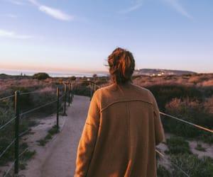 girl, nature, and sky image