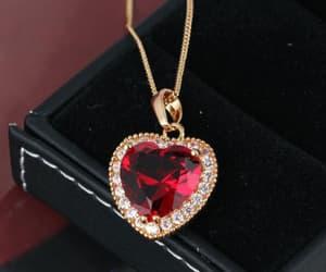 beautiful, diamond, and heart shaped image