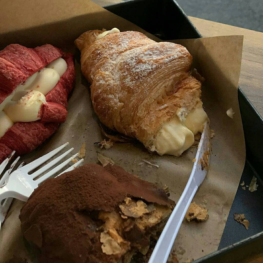 food, croissant, and beauty image