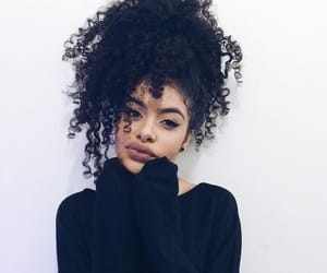 beauty, black, and curly hair image