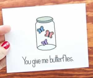 butterflies, card, and couple image