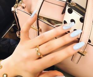 baby blue, opi, and fake nails image