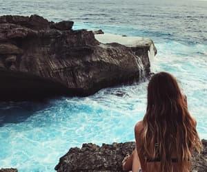 bikinis, beach, and sea image