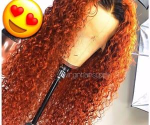 hair, hairstyles, and orange image