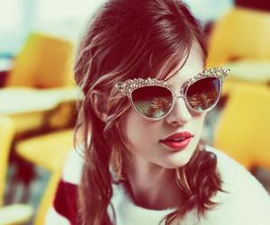 girl, sunglasses, and model image