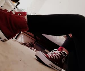 chucks, girl, and happy image