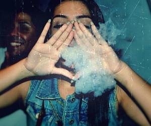 girl, smoke, and hipster image