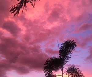 clouds, evenings, and pink image