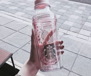 starbucks, pink, and bottle image