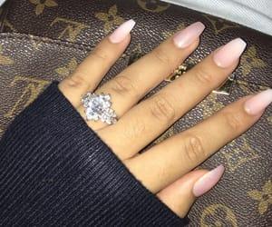 diamond, Louis Vuitton, and nails image