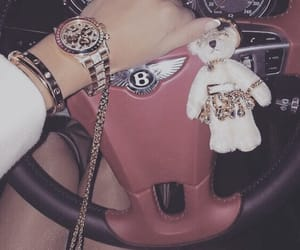 luxury, car, and watch image