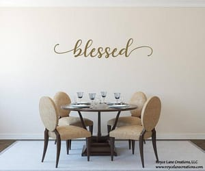 blessed, family, and wall decals image