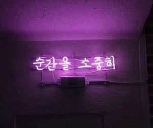 korea, neon sign, and 한글 image