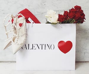 Valentino, roses, and shoes image