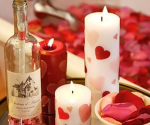 candle, romantic, and valentine image