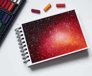 amazing, galaxy, and red image