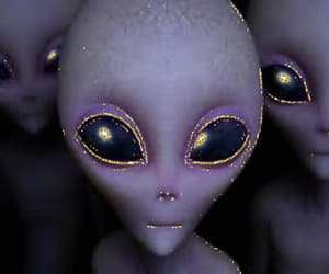 alien, creatures, and purple image