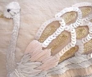 embroidery and Swan image