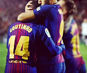 Barca, football, and friend image